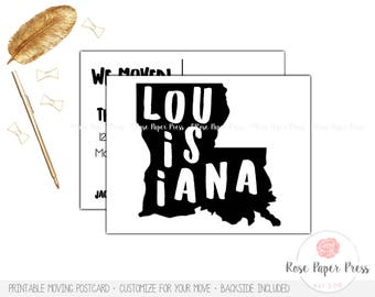 State Moving Postcard | Moving Cards, New Home Postcard | Moving Announcement, New Address Cards | We Moved Printed Postcard | Printable