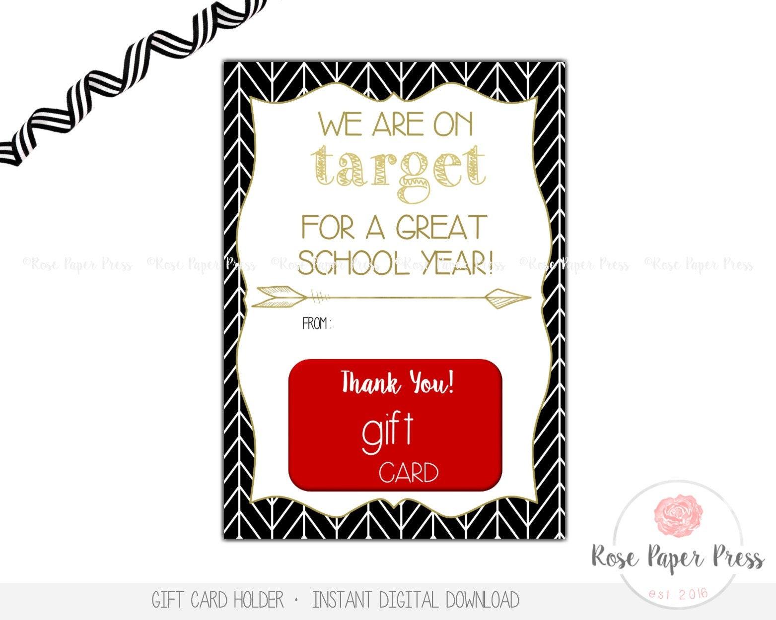Teacher Back to School Gift Card Holder On Target Instant | Etsy