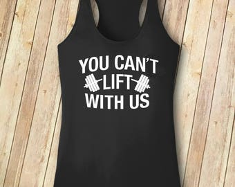 Women's You Can't Lift With Us Racerback Tank - New Year, New Me - Resolution
