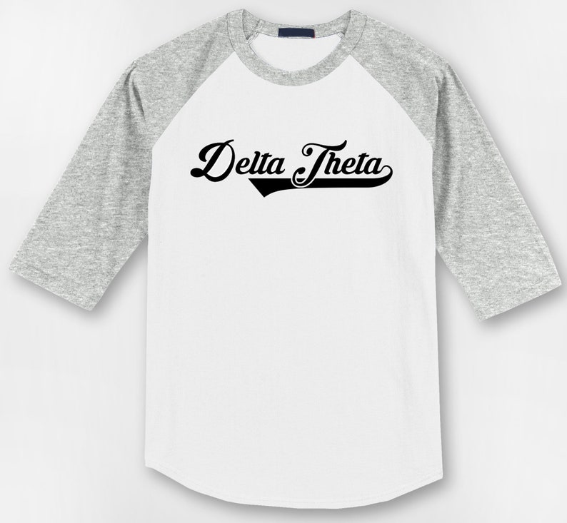 free shipping c039c 24d1d Delta Theta Custom Sorority Apparel Baseball Jersey - Personalize Your Own  Greek Tees
