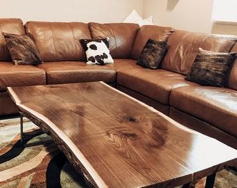 Live edge coffee table | Etsy
