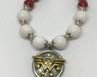 Wonder Woman Beaded Necklace