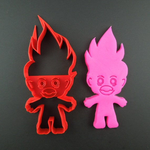Troll Cookie Cutter 3D Printed Troll Doll Cookie and Fondant Cutter -  Decorate Yourself - Gift for Bakers