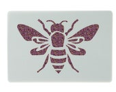 Large Bee Stencil approx 5.3 inches x 3.5 inches Washable and Reusable. Dimensions refer to the overall size of the item.