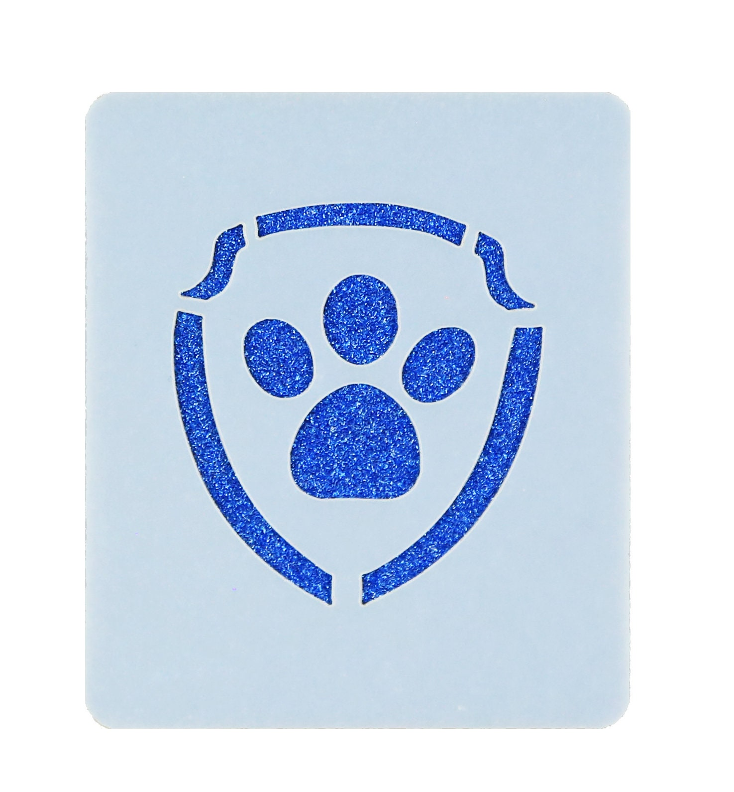paw patrol logo face painting stencil 7cm x 6cm washable