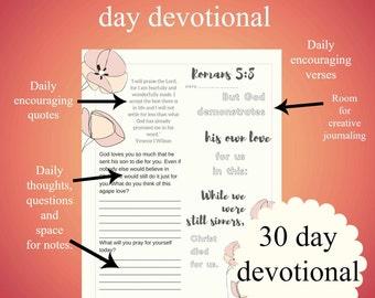 Self-esteem Bible devotional confidence 30 days in the word printable pdf beautiful encouraging self-help pretty