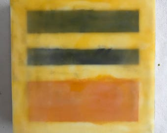Geometric Abstract Painting Encaustic