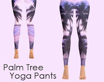 Tropical yoga pants   yoga gift ideas   pink yoga pants   pink yoga leggings   yoga clothing  ladies leggings   printed leggings  yoga pants