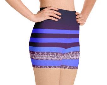 Longyi Striped Yoga Shorts   workout shorts \ running shorts   shorts for women   yogawear   high waist   activewear   yoga clothing  shorts