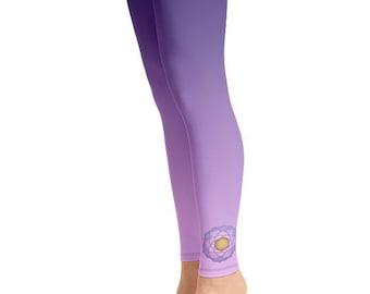 Pink Lotus Leggings Etsy