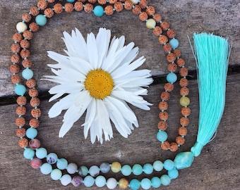 Amazonite Mala   Gift for Yoga Lover   Spiritual Gift   Yoga gifts   Mala beads   Meditation Beads   Mala   Mala Beads   Yoga Necklace