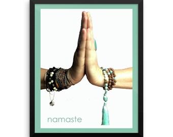 Framed Namaste Sign   Namaste Wall Art   Namaste Print   Namaste Poster   Namaste Gift   Yoga Wall Art   Yoga Poster   Yoga Print  Yoga gift