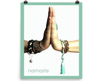 Namaste Sign   Namaste Wall Art   Namaste Print   Namaste Poster   Namaste Gift   Yoga Wall Art   Yoga Poster   Yoga Print   Yoga gift