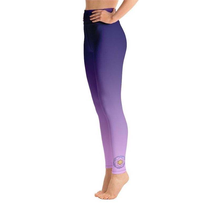 90f59fad3106c Lotus Yoga Tights lotus leggings pink yoga pants pink | Etsy