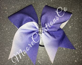 Glitter ombre cheer bow
