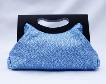 Blue Shimmer Clutch Bag/ Ankara