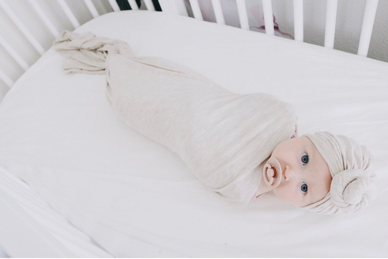 c141cbefea2 Oatmeal baby swaddle swaddle blanket baby wrap matching
