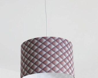 Kronleuchter, Die Decke Hell Braun Geometrische Diamant Gradient    Lampenschirm Zylindrisch   Runde Aussetzung Zylinder 28cm + Elektrokabel    Geschenk Idee