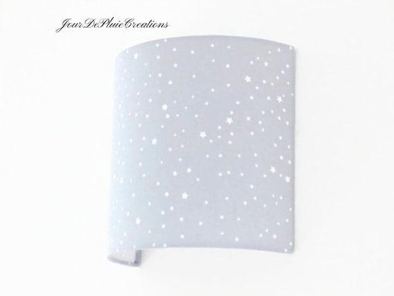 Applique murale gris étoiles blanches demi cylindre demi-lune carré idée  cadeau noël anniversaire naissance chambre bébé déco chambre enfant
