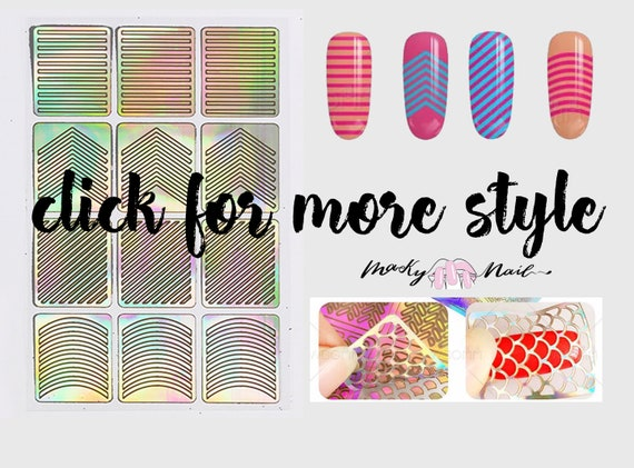 Hollow Out Nail Art Sticker Diy Tips Guides Transfer Etsy