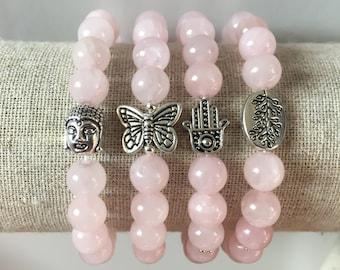 Rose Quartz Custom Healing Bracelet