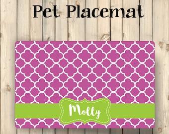 Custom Pet Placemat   Custom Pet Mat   Custom Dog Mat   Cat Placemat   Dog Food Mat