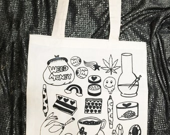 Weediquette  Natural Tote Bag