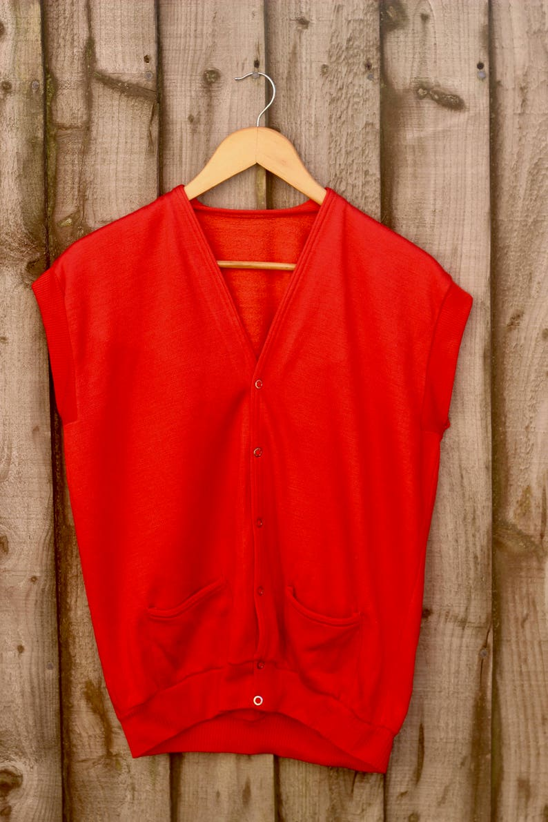 Red Waistcoat Jumper