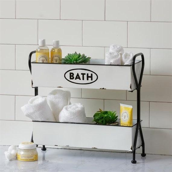 2 Tier Metal Bathroom Organizer, Bathroom Organizer Tray