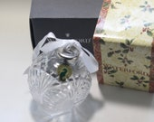 Waterford crystal Seahorse Ball Ornament. New in box with sticker, 2 available