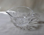 Waterford Lismore Gravy or Sauce Boat, signed with older etch