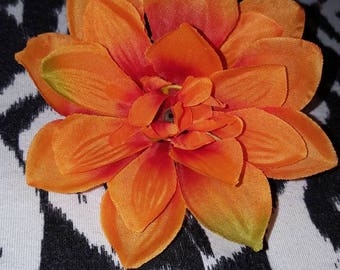 Orange Delilah Hair Clip, Flower Hair Clip, Flower Clip, Orange Flower Clip, Pin up hair, Pin Up Hair Clip, Delilah, Flowers, Girl hair clip