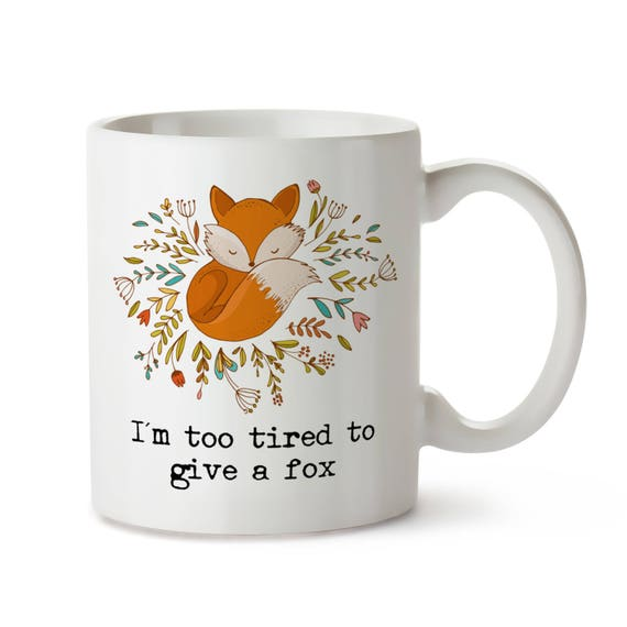Funny Fox Mug Fox Mugs Funny Fox Coffee Mugs Cute Fox Mug Etsy