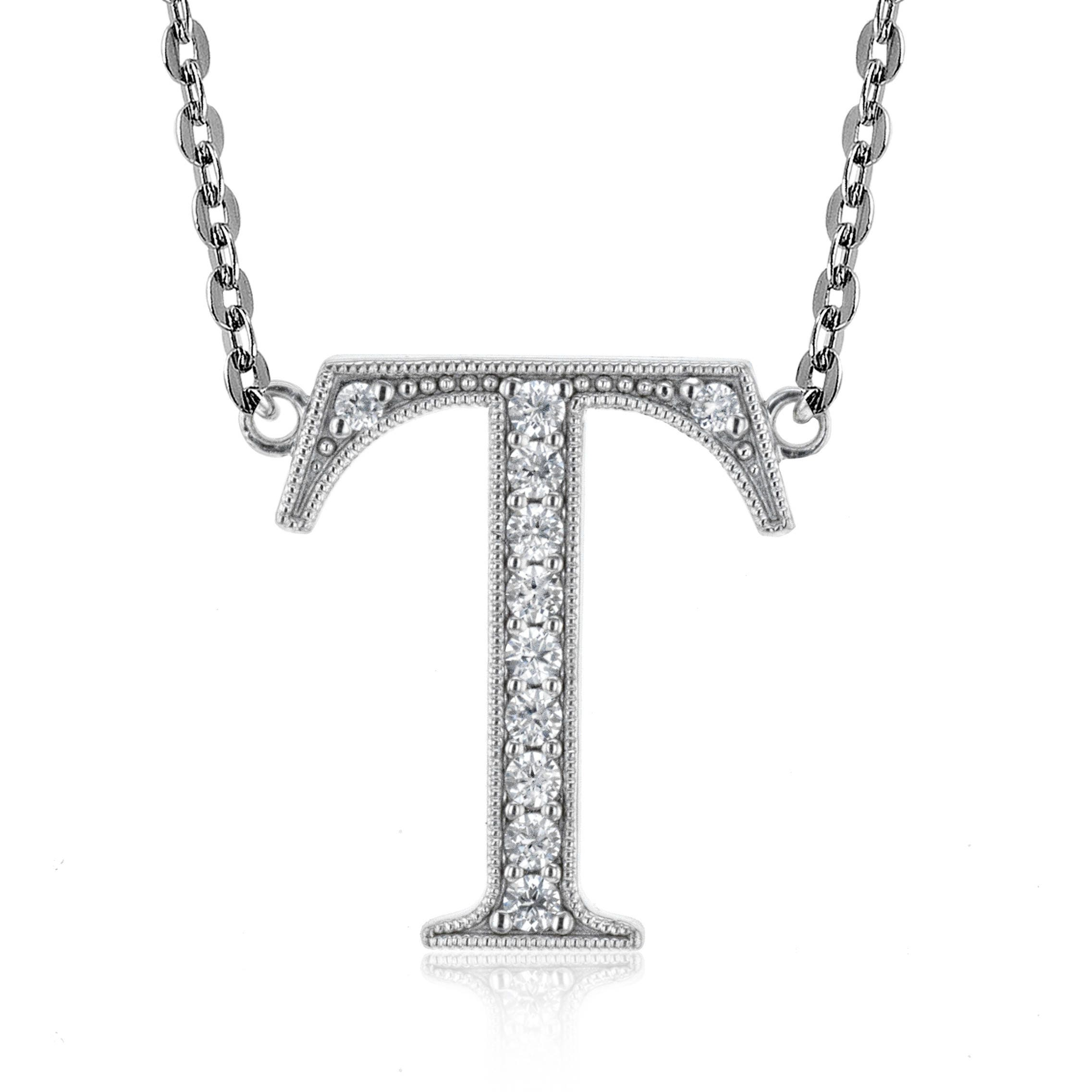 inches v jewelry bling width necklace letter cursive t p plated cz rhodium pendant alphabet