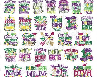 Mardi Gras Saying Etsy
