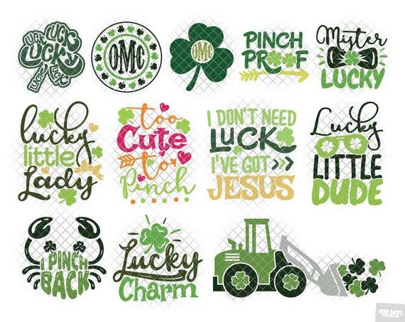 St Patrick S Day Svg Bundle Clover Shamrock Pinch St Etsy