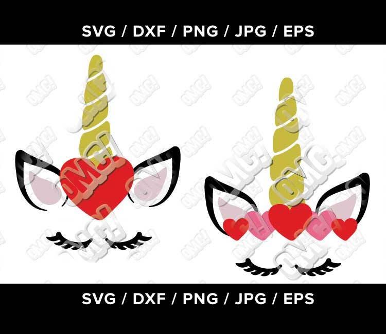 Unicorn Eyelash Kids Valentine Svg Svg Dxf Eps Jpeg Png Format Etsy