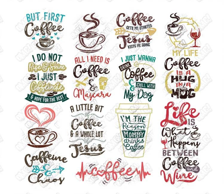 Coffee SVG Bundle Quotes Sayings Lover Junkie Addict Funny ...
