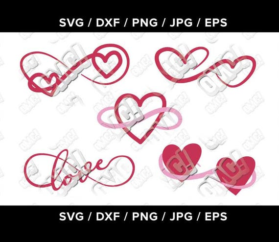 1620+ Infinity Love Heart Svg by Designbunle
