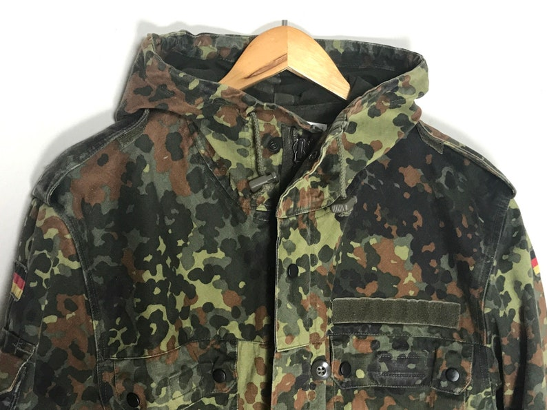 Jahrgang Armee Parka Militärparka Mantel deutsche JackeFlecktarn 90 Tarnung VSMzqpU