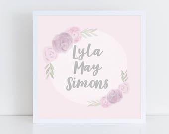 Custom Girl's Name Print