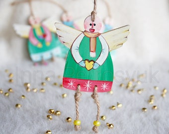 angel christmas ornaments handmade wooden handmade christmas ornaments xmas gifts xmas decorations - Handmade Angels Christmas Decorations