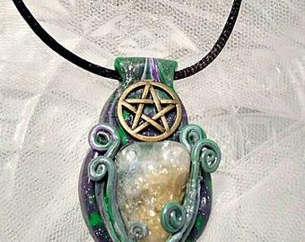 Light of Freya Citrine Quartz Pendant