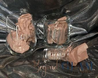 Classy, Bougie, Rachet Drinkware Set Rose Gold