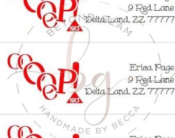 Delta Sigma Theta Address Labels- 60 labels