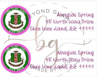 Alpha Kappa Alpha inspired Address Labels- 60 labels