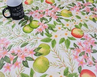 Oilcloth Tablecloth Pvc Tablecloth 1615 Apple Blossom Green  - Oilcloth  Matt Finish. Simply wipeclean the tablecloth