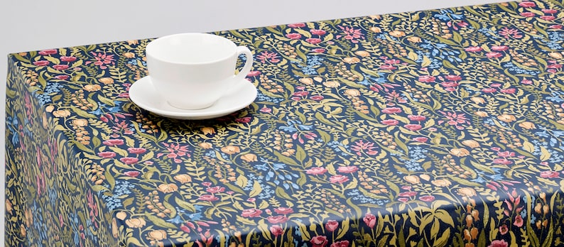 Oilcloth Tablecloth Pvc Tablecloth  1598 Cotswold Jewel image 0