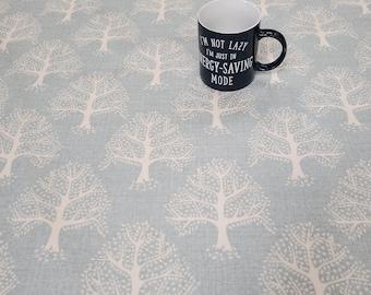 Oilcloth Tablecloth Pvc Tablecloth - Design 1611 Great Oak Duckegg  Matt Finish - Various sizes
