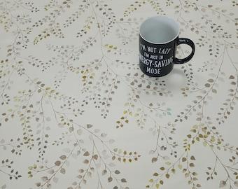 Vinyl Tablecloth PVC Tablecloth - Design 3E7/01 Autumn Leaves - Various Sizes